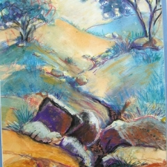 WC &Pastel Landscape 21x15in UF $250