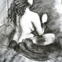 Nude-Charcoal 19x13in $200 UF