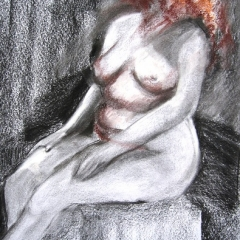 Nude-Charcoal-Pastel 16x14in UF $200
