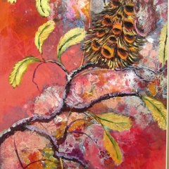 Pigmy Possum and Banksia 18x12in Ink&Acrylic sold