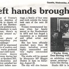 yvonne west Hawkesbury gazette 1995 part 2