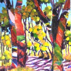 Road to Deep Spring contemporary Acrylic Collage