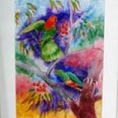 King Parrots 2 55cm x 35cm