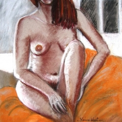 Nude-Charcoal-Pastel FR. $400