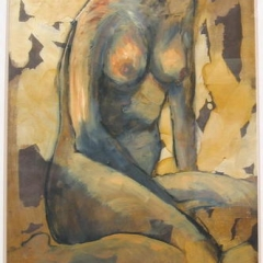 Angela seated Mixed Media 30x 22 UF