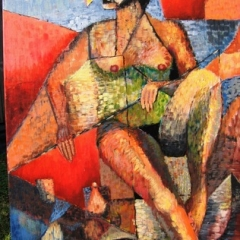 nude picasso style Acrylic on Canvas 20x 30 UF