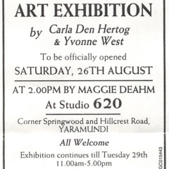 art exhibition yarramundi-yvonnewest